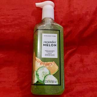 Authentic B&BW Deep Cleansing Hand Soap - Cucumber Melon 🍉 236ml