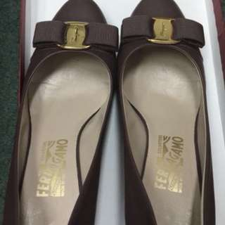 Ferragamo high heel shoes size37.5