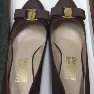 Ferragamo high heel shoes size37.5