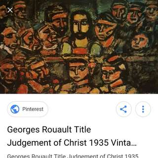 📌📍Judgement of Christ 1935 Poster Painting