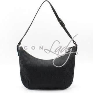 GUCCI 32160 黑色GG帆布 手挽袋 肩背袋 小手袋