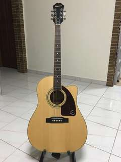 Ephipone AJ-220SCE/N Acoustic Guitar with pickup and tuner