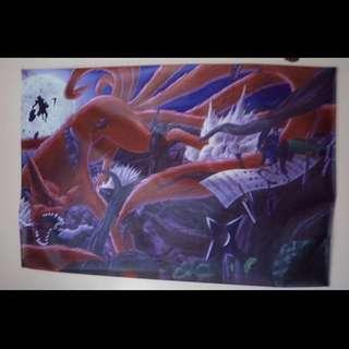 Giant Anime Naruto Material Poster