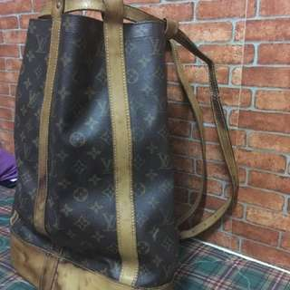 Authentic LOUIS VUITTON Monogram Canvas Randonnee GM Backpack Bag
