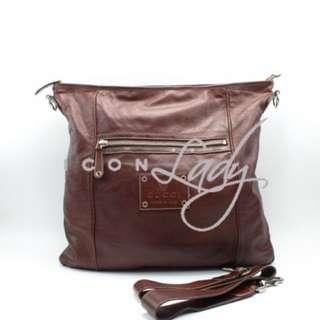 GUCCI 189684 啡色皮革 斜揹袋 肩背袋 手袋