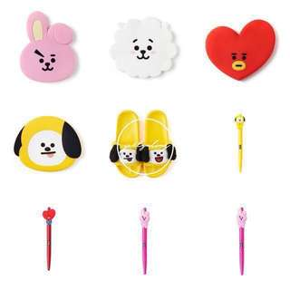 [INSTOCKS] BTS BT21 OFFICIAL MERCHANDIZE 2 (rj, chimmy, tata, cooky mirror/chimmy, tata, cooky gel pen)