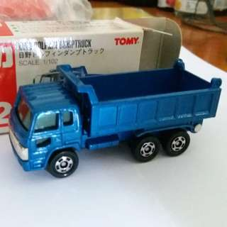 Tomica tomy tomy車 no 52 號1:102 Hino Dolphin Dumptruck 泥頭車