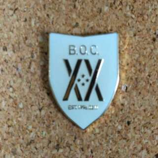 B.O.C. logo pin badge
