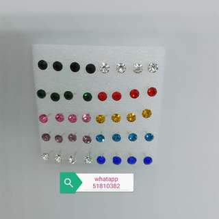 防敏感膠針4毫米閃石耳環