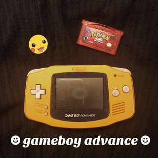 yellow/orange gameboy advance