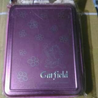 加菲貓系列 GARFIELD 絕版 2004年 粉紅色 鋁金屬面 記事簿 ORGANIZER
