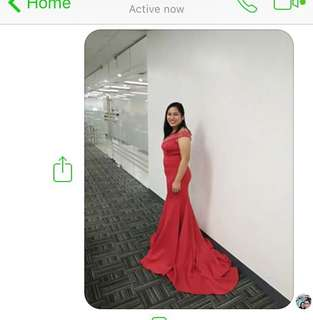 Red Long Gala Gown