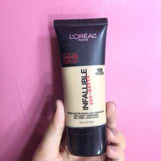 ‼️ SALE ‼️ L'ORÉAL Infallible Pro-Matte Foundation in Natural Beige 105