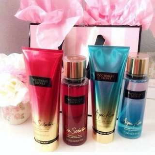 ✨Original Victoria's Secret Fragrance Mist & Lotions SET✨ ₱1400 only if set (classic scent Mist & Lotion)