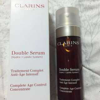 BN Clarins Double Serum w/ free 100ml body shaping cream (Open for Trading)