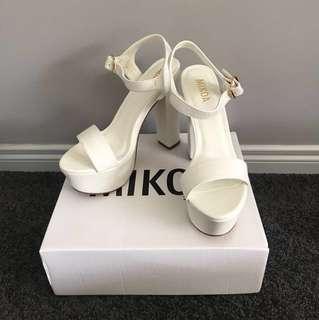 NEW WITH BOX White Platform Heels