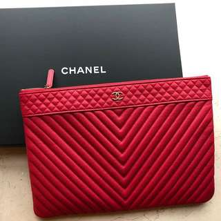 Brand new Red Chanel Clutch