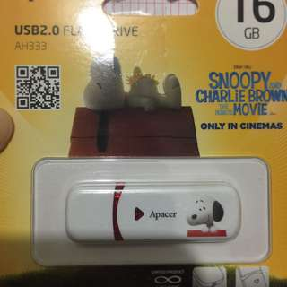 全新snoopy Apacer 隨身碟USB 16GB