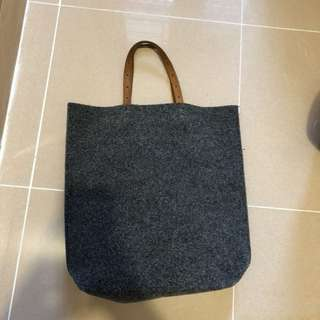 Leather strap tote bag 手提袋 古著 復古