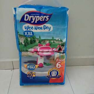 Drypers tape diaper XXL 40+6pcs