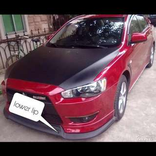 Lancer ex lower lip . Pp material
