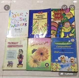 English P3  & 4 composition Books each $5