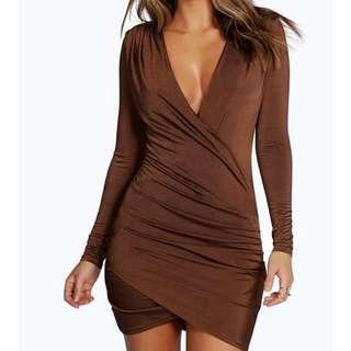 BNWT Flattering Chocolate Bodycon Dress