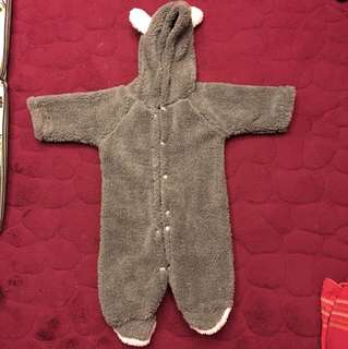 Baby Warm Fleece Jumpsuit