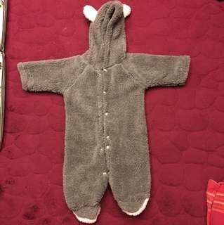 Baby Warm Fleece Jumpsuit