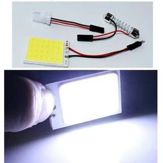 Confirm cheapest T10 Adapter Festoon Base COB LED Panel Bulb 48 smd cob 24 SMD Car Dome Light Auto Interior Map Roof Reading Lamp Super White DC 12V