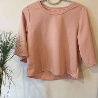 PINK Oversized Sleeves Top