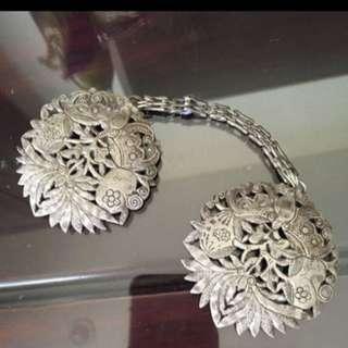 纹银,vintage silver jewellery