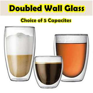 Double-Wall Glass★Bouble walled cup ★Borosilicate glass