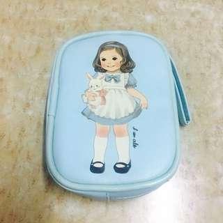 [包郵]韓國娃娃淺藍色小袋