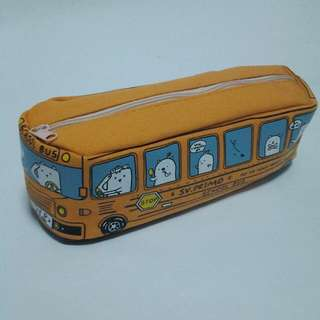 Orange School Bus Pencil CASE