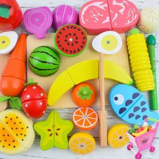 ⚡SPECIAL OFFER⚡BN Wooden Magnetic Cutting Foods Set (Assorted)
