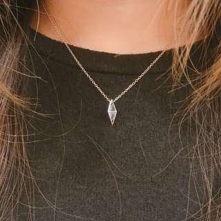 925純銀鏤空托帕石頸鏈