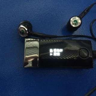 Sony可插咭,聽收音機同mp3籃芽耳機