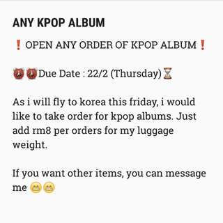 ANY ALBUMS AND LIGHTSTICKS ORDER (BTS EXO APINK WANNAONE TWICE REDVELVET NUESTW MAMAMOO GOT7 ALL)