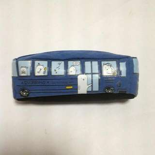 Blue School Bus Pencil Case