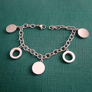 Circle Charms Stainless Bracelet