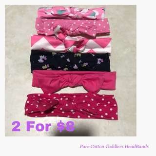 Pure Cotton Baby/Toddlers Headbands
