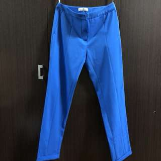 BN Blue pants slim fit dress pants