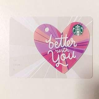 Starbucks V Day Card