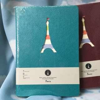 巴黎鐵塔記事本 (湖水藍)Paris Eiffel Tower Notebook