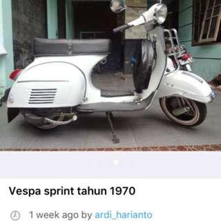 Vespa sprint veloce ( penipuan )