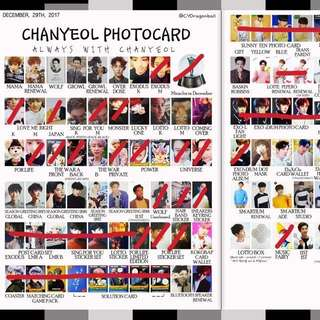 [WTB] EXO CHANYEOL PHOTOCARD