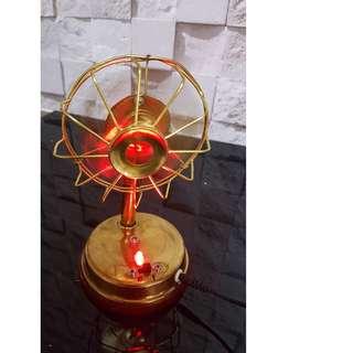 Brass miniature display fan homedecor