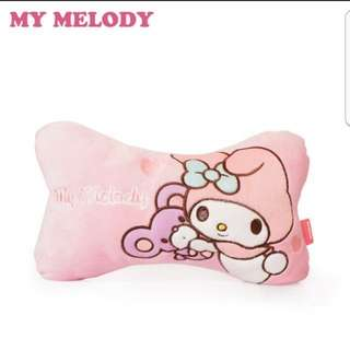 In stock sanrio my melody car head cushion a set of 2 size is 28 × 9 × 18cm