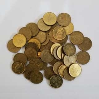1990年 5毫硬幣 (有25個) (請註明買幾多個) (隨機賣出)